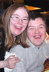 Picture of two adult service users